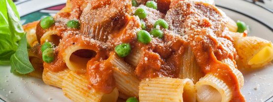 Rigatoni with Sausage & Peas | Prepared Dinner Delivery
