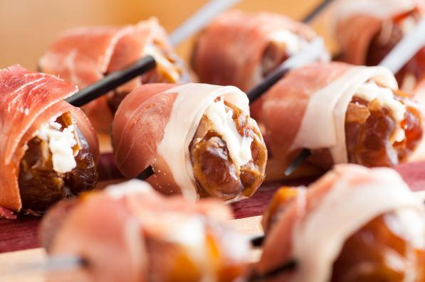 Stuffed Dates Wrapped in Prosciutto | Passed Hors D'Oeuvres