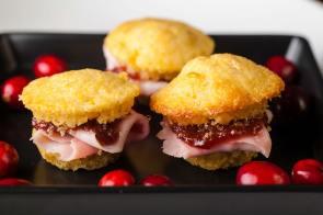 Mini Ham & Jam Cornbread Bites | Passed Heurs D'ourves